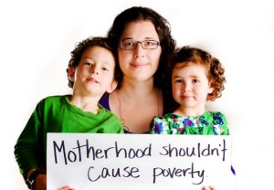 Motherhood shouldn't cause poverty