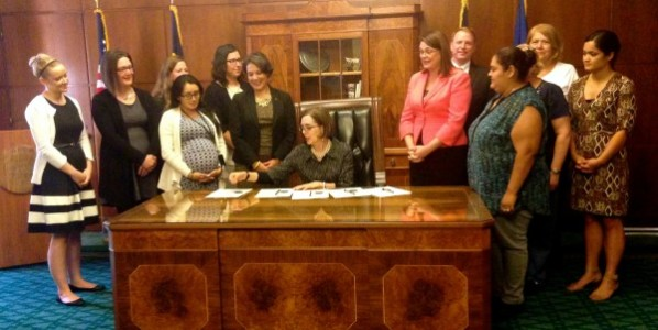Bill Signing with Governor Brown