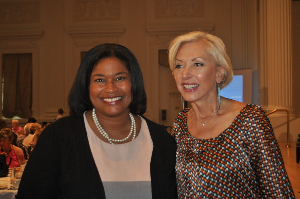 Latifa Lyles and Portland First Lady Nancy Hales
